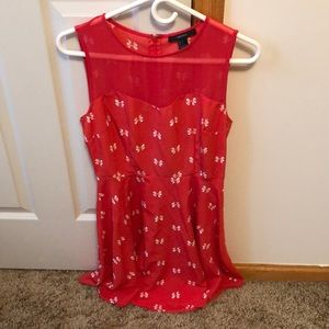 NWOT F21 Small Coral Dress Small